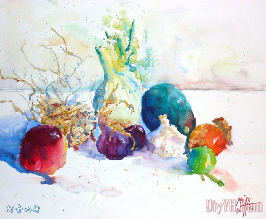 蔬菜和水果装饰画_静物
