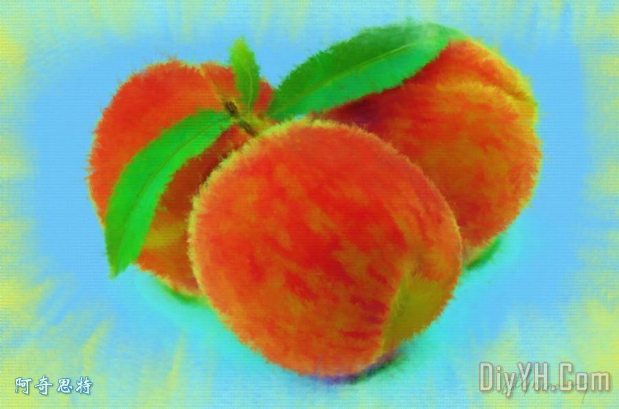 抽象绘画水果 - 抽象绘画水果装饰画