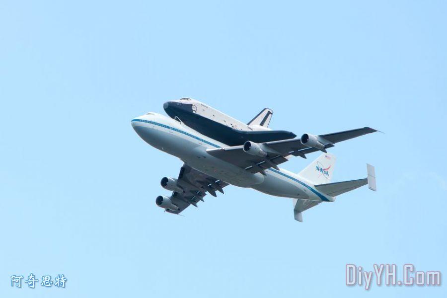 企业号航天飞机抵达纽约市