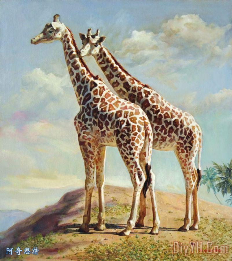 浪漫在非洲装饰画_动物