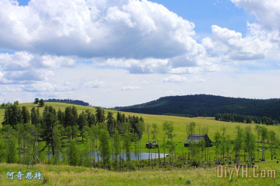 边界牧场风景区装饰画_素描_加拿大_边界牧场风景区