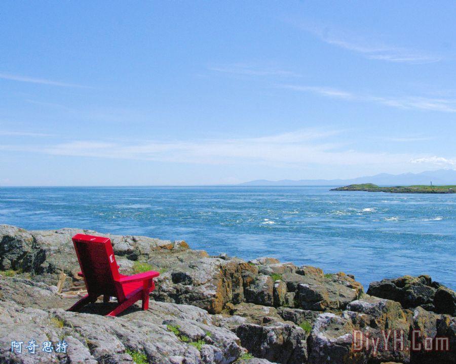 躺椅海景装饰画_海洋_海景画_维多利亚_躺椅海景油画