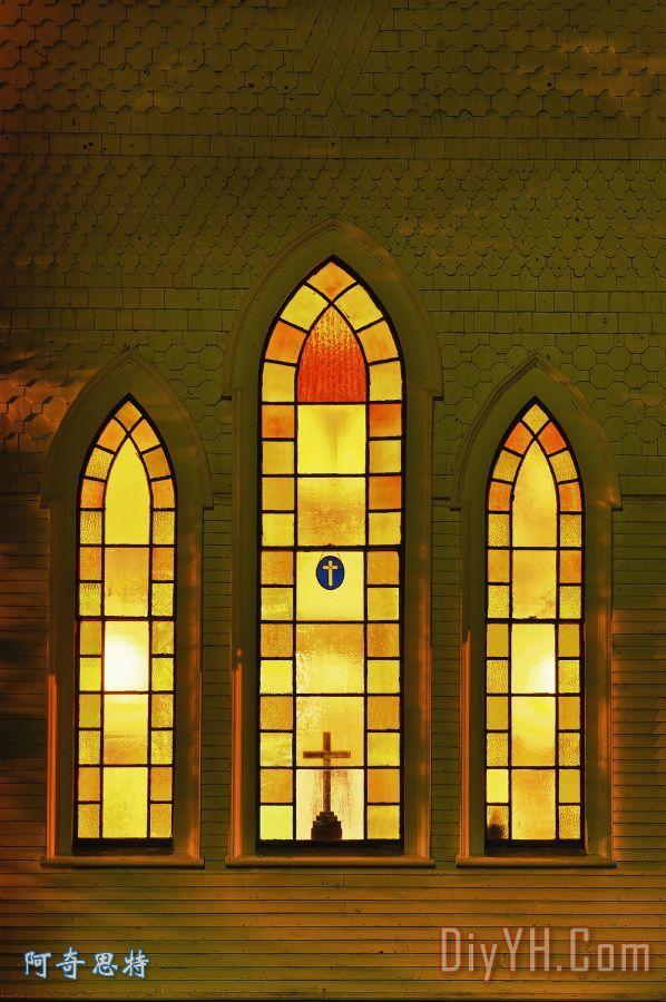 照亮教堂窗 - 照亮教堂窗装饰画