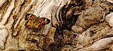 蝴蝶树桩上装饰画