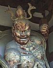 法隆寺门守护者 - 日本奈良装饰画
