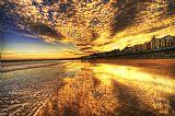 日落海滩装饰画