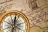 - 指南针和仿古地图