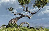 坐树装饰画