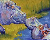 吻 - 河马装饰画