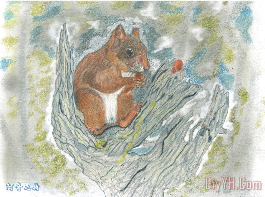 儿童国画写意松鼠步骤
