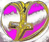 黄金的心脏装饰画