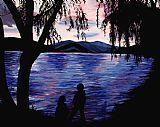 纵观湖装饰画