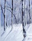 - 缅因州冬天树林