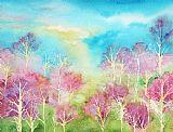 粉彩春装饰画