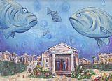 海滨石斑鱼装饰画