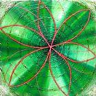 绿脉轮装饰画