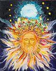 素描 预言/预言的消息素描Painting1耶稣基督的犹大开花皇冠的狮子