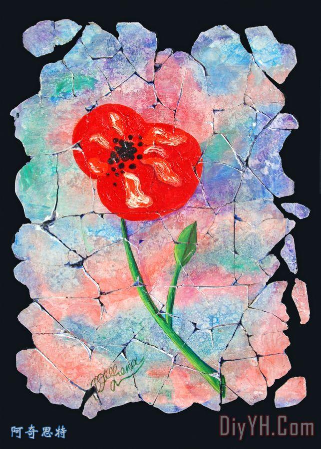 一朵花一朵花装饰画
