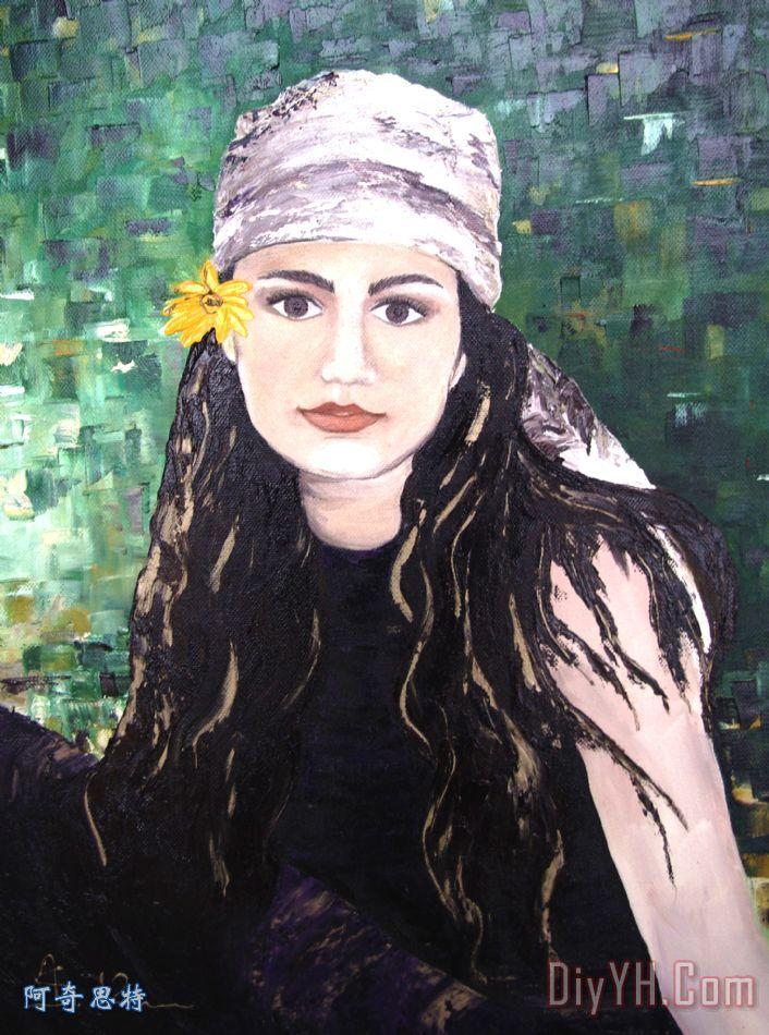 花的力量女孩 - 花的力量女孩装饰画