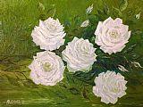 白玫瑰我的好友装饰画