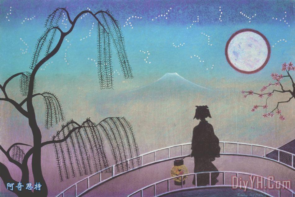 月亮幻想手绘图片