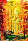 森林的火焰装饰画