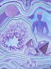 紫水晶顶轮装饰画