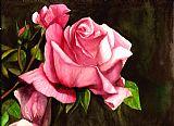 粉红玫瑰装饰画