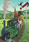 动物火车之旅装饰画