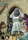 动物婚礼装饰画