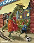 恐龙妈妈与儿子出去逛街装饰画