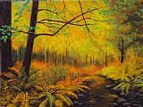 蕨类植物秋季装饰画