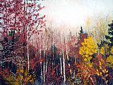 秋季的森林装饰画