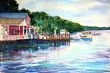 Harpswell的码头装饰画