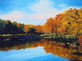Mattawamkeag河在秋季装饰画
