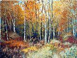 金色的树林装饰画