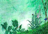 热带雨林的生物。动物装饰画