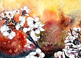 日本樱花抽象的花朵装饰画