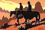 棕色牛仔装饰画
