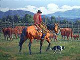 牛仔船员装饰画