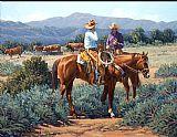 两个牛仔装饰画