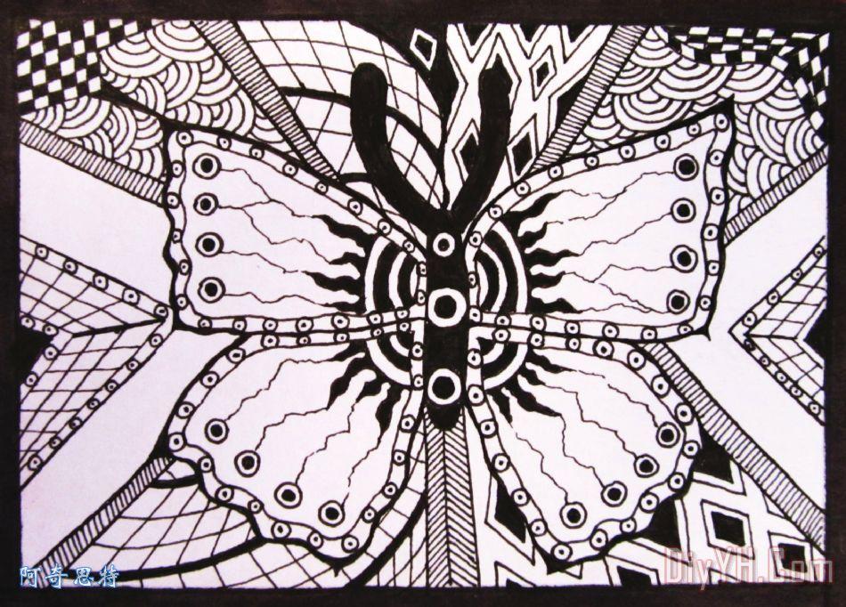 蝴蝶知觉装饰画 自然 黑白 蝴蝶知觉油画定制 阿奇思特图片