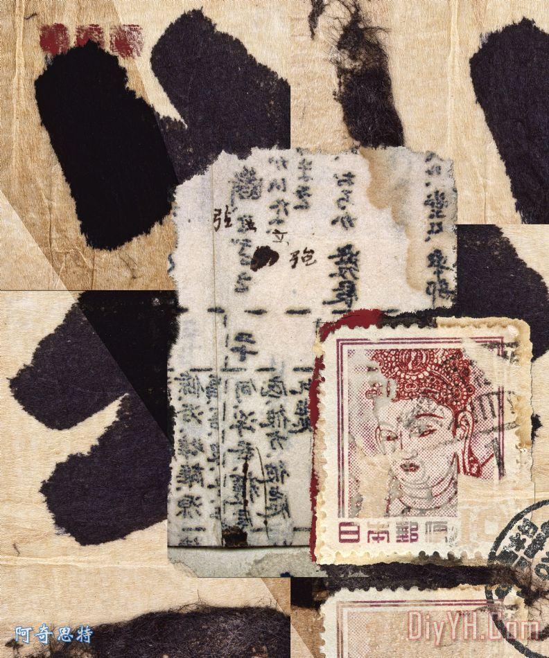 【高清】手工纸贴装饰画