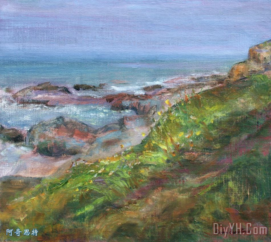 北岸- 风景海景油画