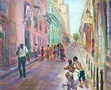 城市风光照片 - 老哈瓦那街头生活出售大风景都市风景油画