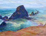 岩石向北 - 风景海景油画装饰画