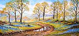 在新森林风信子沙发背景用画装饰画
