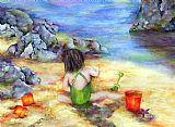 在沙城堡装饰画