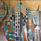 城市景观双联装饰画