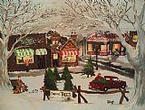 圣诞村装饰画